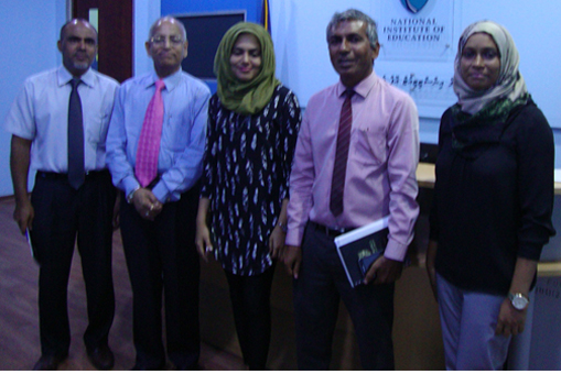 Minister of Education, Govt. of Maldivs, Hon. Mr. Naheed Abraham and Team